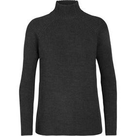 Icebreaker Hillock Funnel Neck Sweater Women char heather